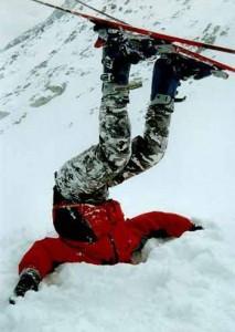 Яркий пример неправильного выбора лыж