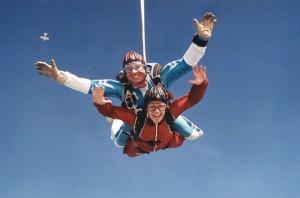 Первые прыжки с парашютом, парашютизм