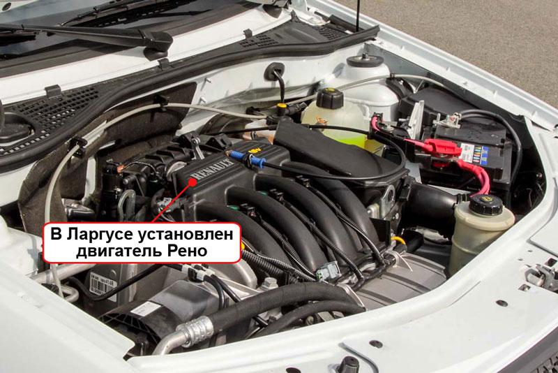 Двигатель Ларгуса