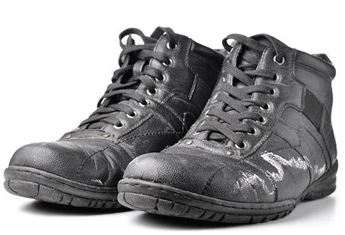 чистка обуви от солевых разводов