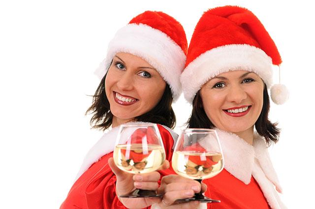 two woman santa